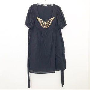 Zara Basic Womens Cotton Dress Embellished  Size L
